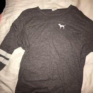 Pink football jersey T-shirt